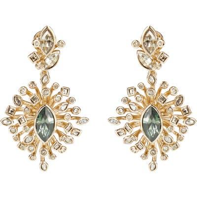 Alexis Bittar Navette Crystal Burst Drop Earrings