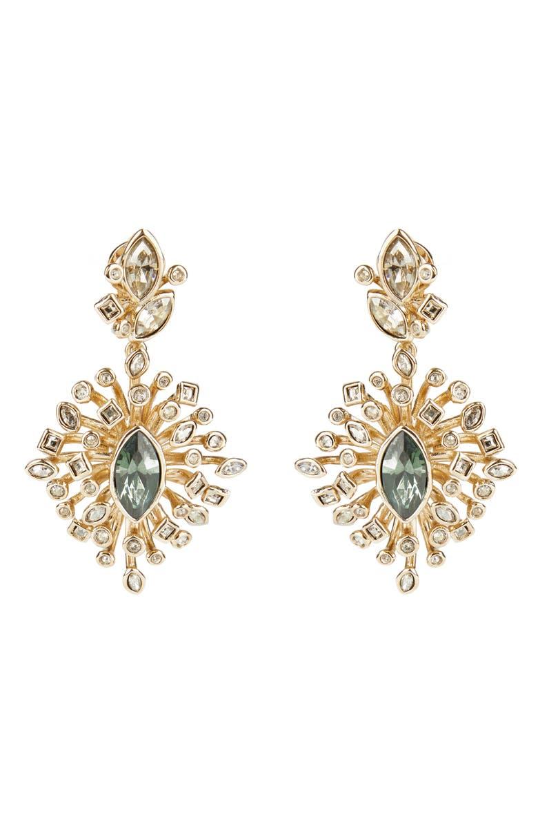 ALEXIS BITTAR Navette Crystal Burst Drop Earrings, Main, color, GOLD