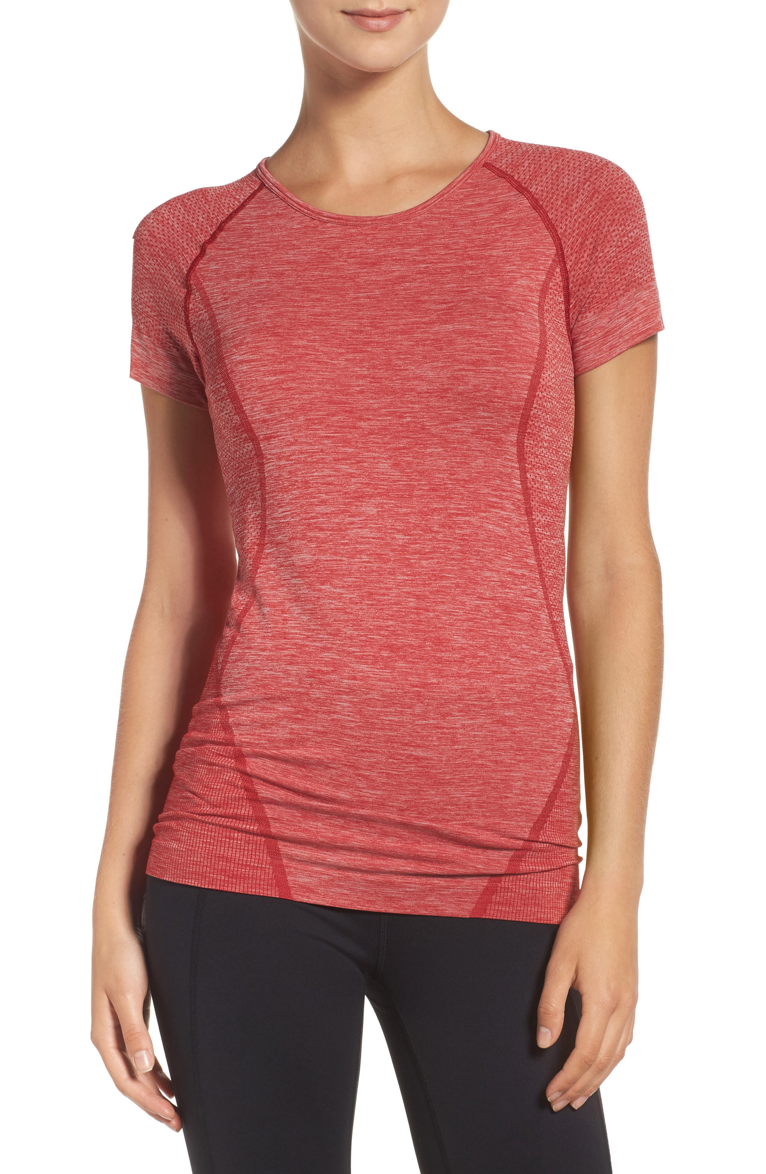 ,                             Stand Out Seamless Training Tee,                             Main thumbnail 77, color,                             601