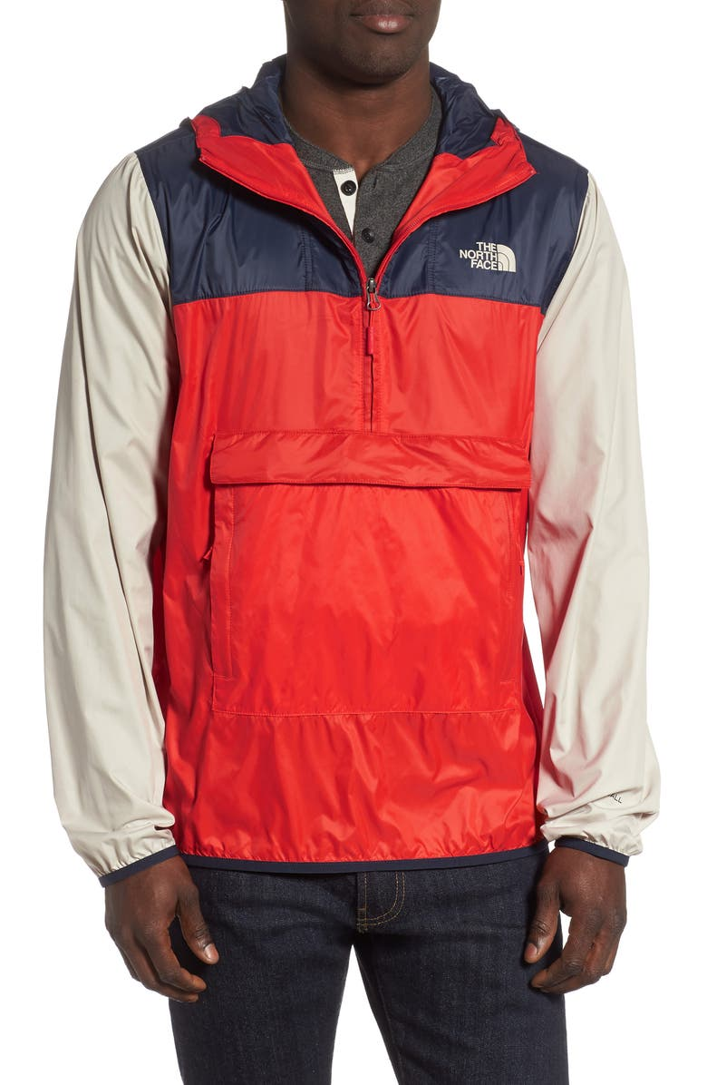 THE NORTH FACE Fanorak Pullover, Main, color, FIERY RED/URBAN NAVY/VINTAGE W