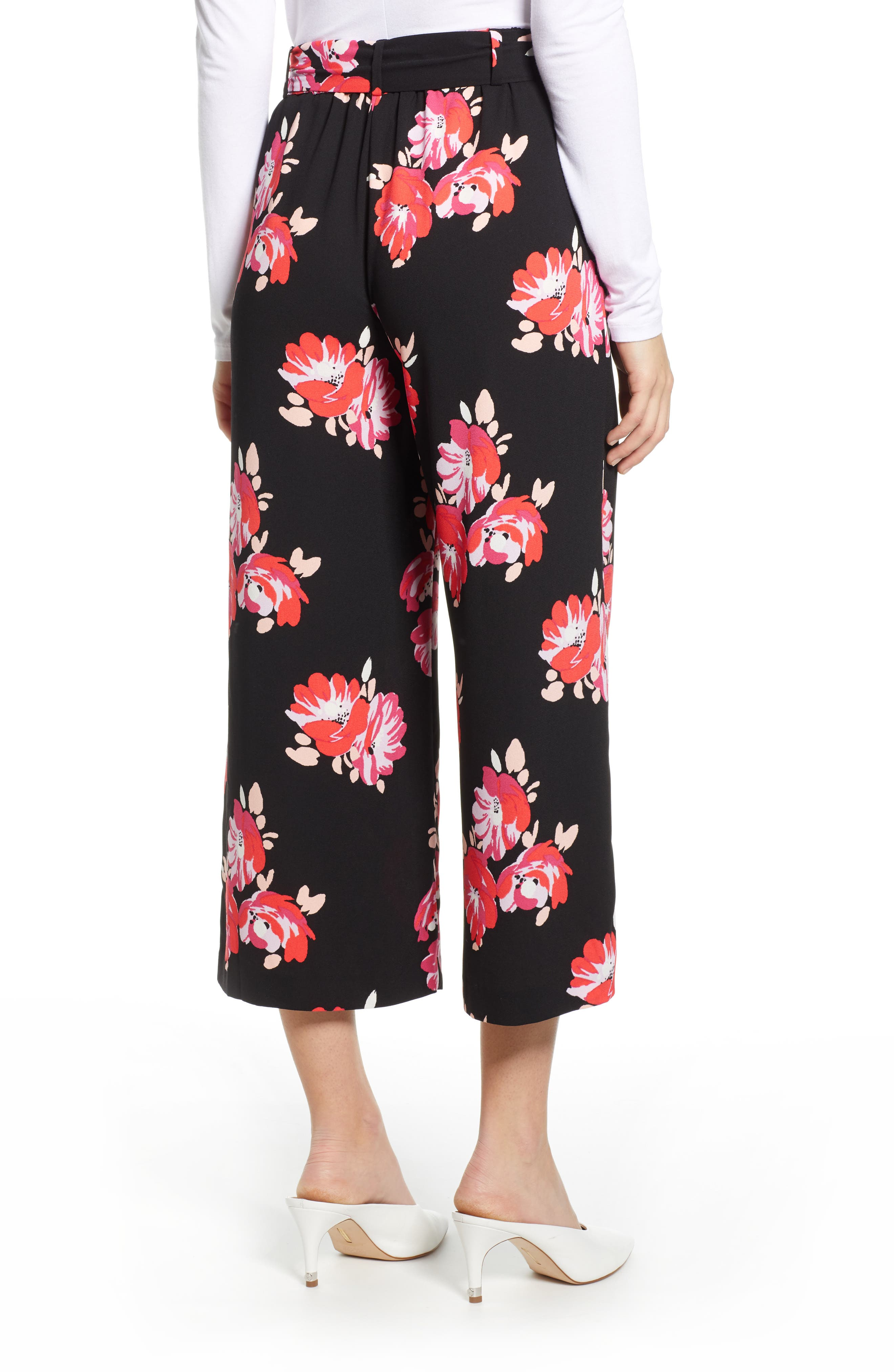 ,                             Wide Leg Crop Pants,                             Alternate thumbnail 27, color,                             007