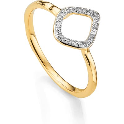 Monica Vinader Riva Mini Kite Diamond Stacking Ring