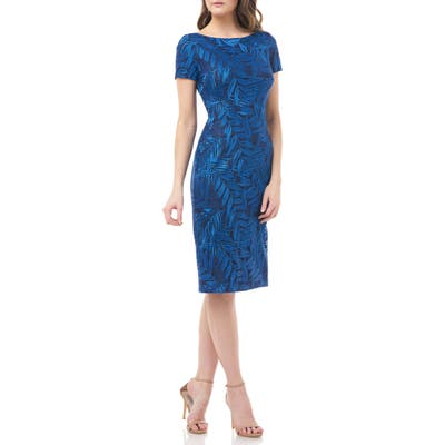 Js Collections Leaf Soutache Cocktail Dress, Blue