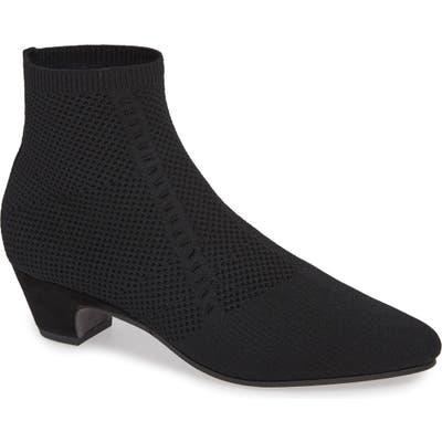 Eileen Fisher Purl Sock Bootie- Black