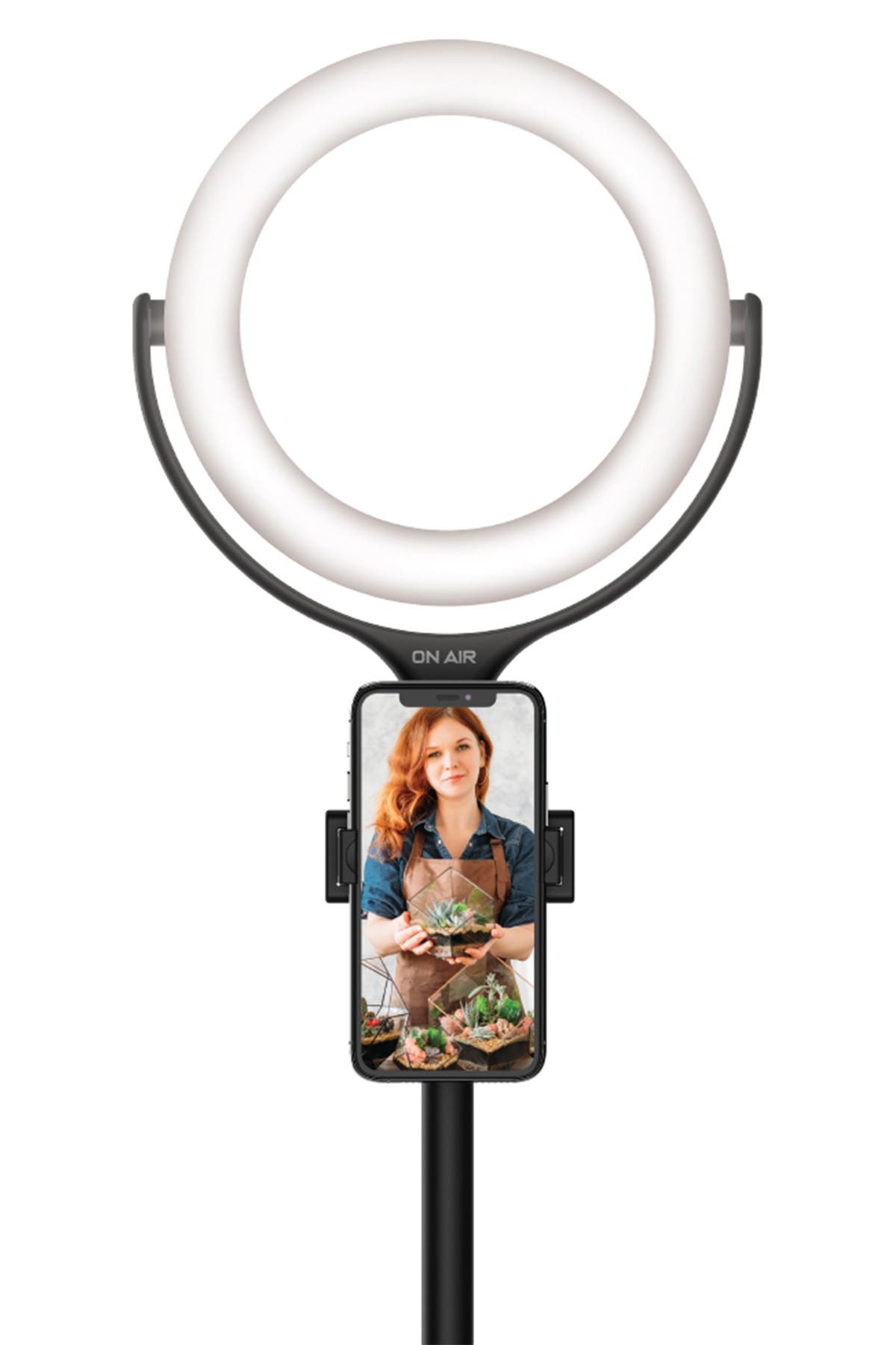 "Image of Tzumi ONAIR 8"" LED Ring Light with (Up To) 15"" Stand"