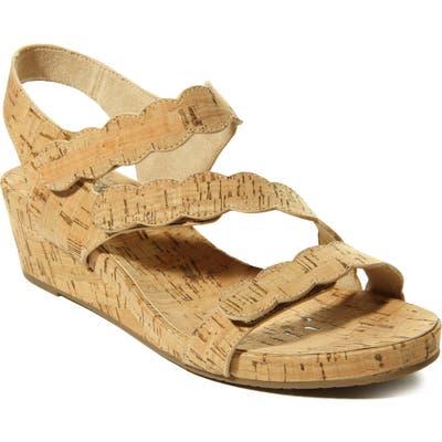 Vaneli Kabie Platform Wedge Sandal, Beige