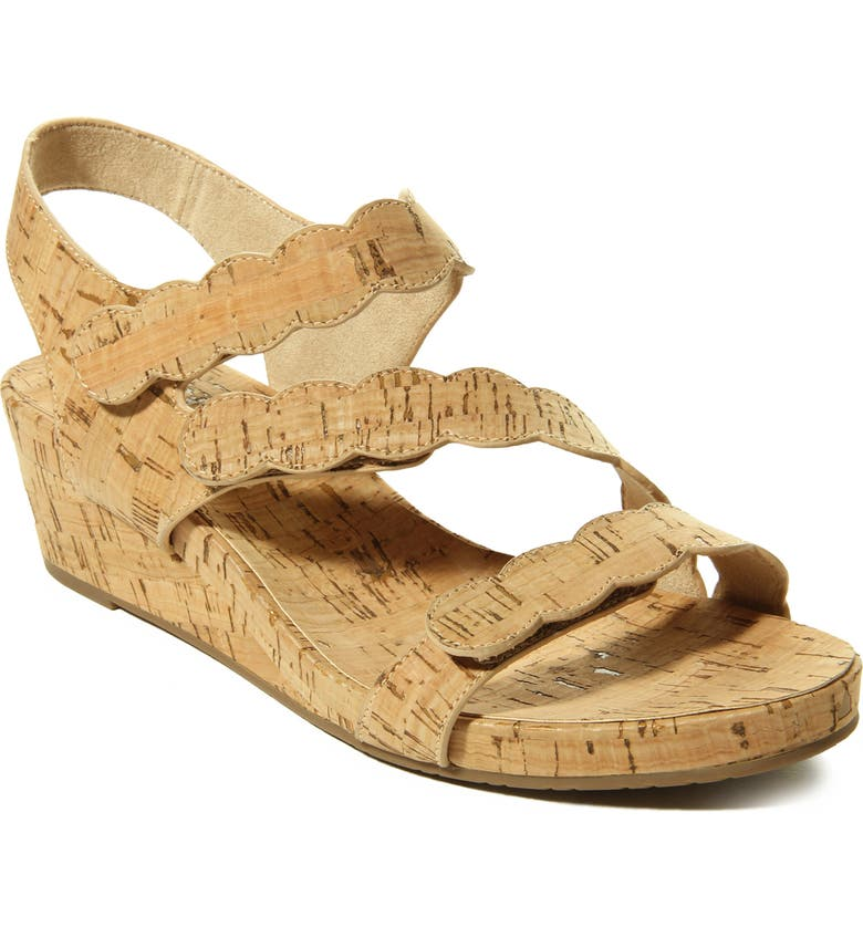 VANELI Kabie Platform Wedge Sandal, Main, color, NATURAL CORK FABRIC