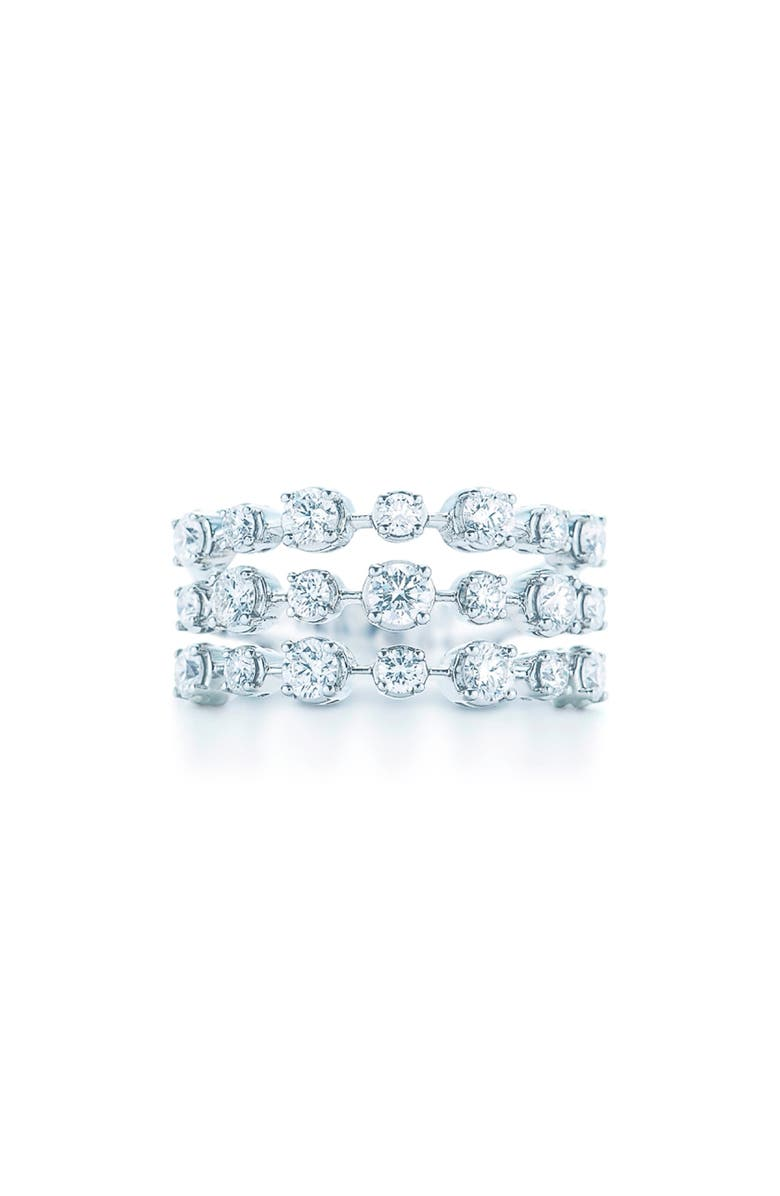 KWIAT Starry Night 3-Row Diamond Ring, Main, color, WHITE GOLD