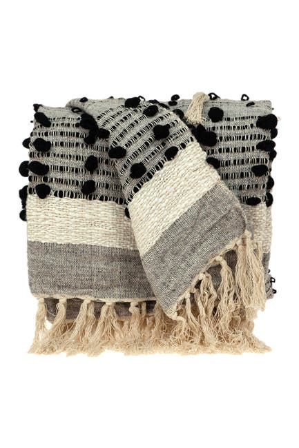 """Image of Parkland Collection Percy  Eclectic Grey 52"""" x 67"""" Woven Handloom Throw"""