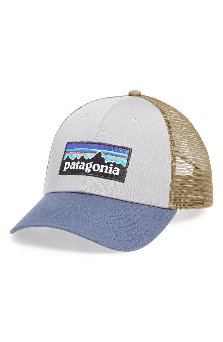 PATAGONIA PG - Lo Pro Trucker Hat, Main, color, DGDB DRIFTER GREY W/ BLUE