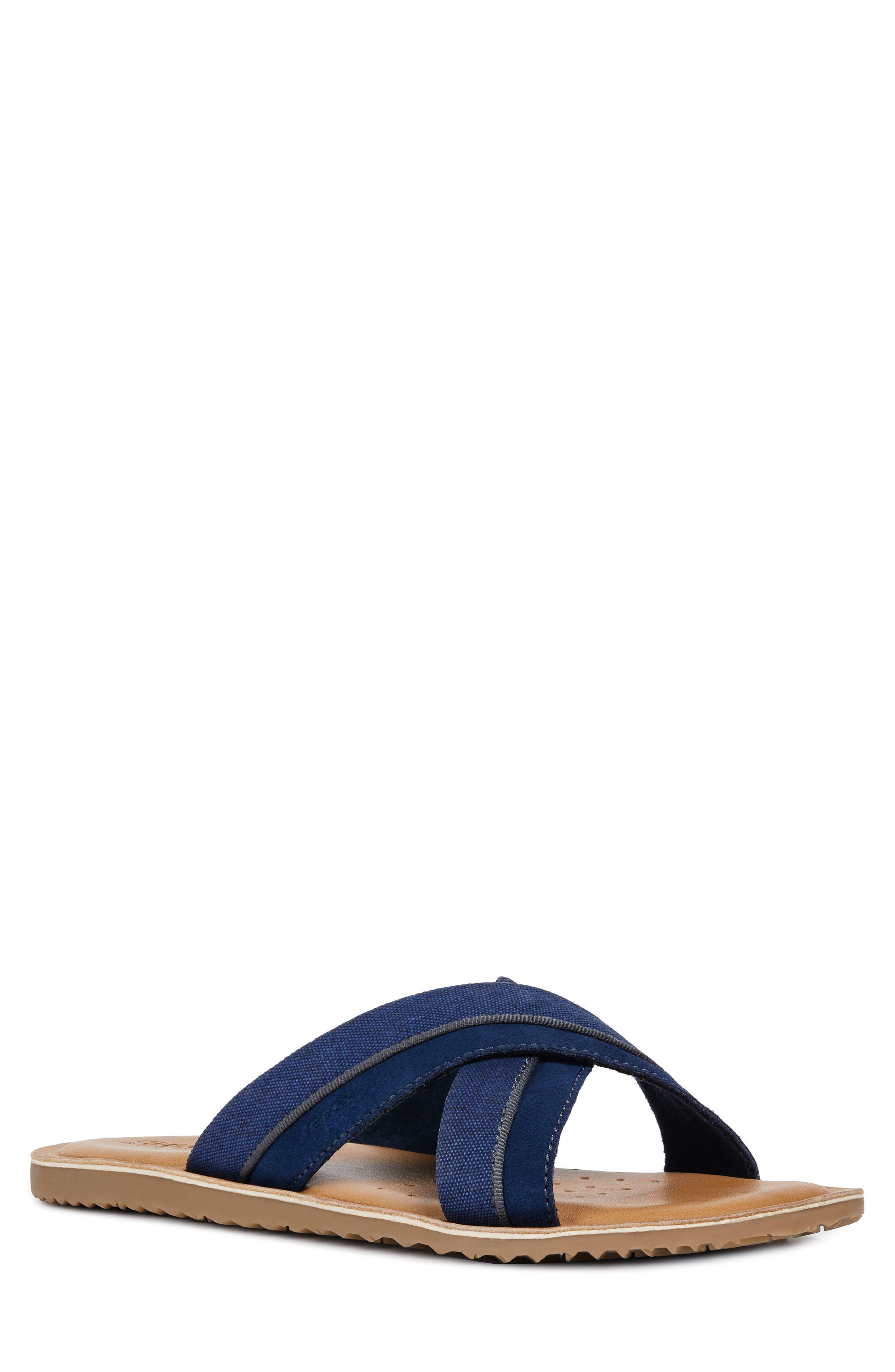 Geox Artie 18 Slide Sandal, Blue