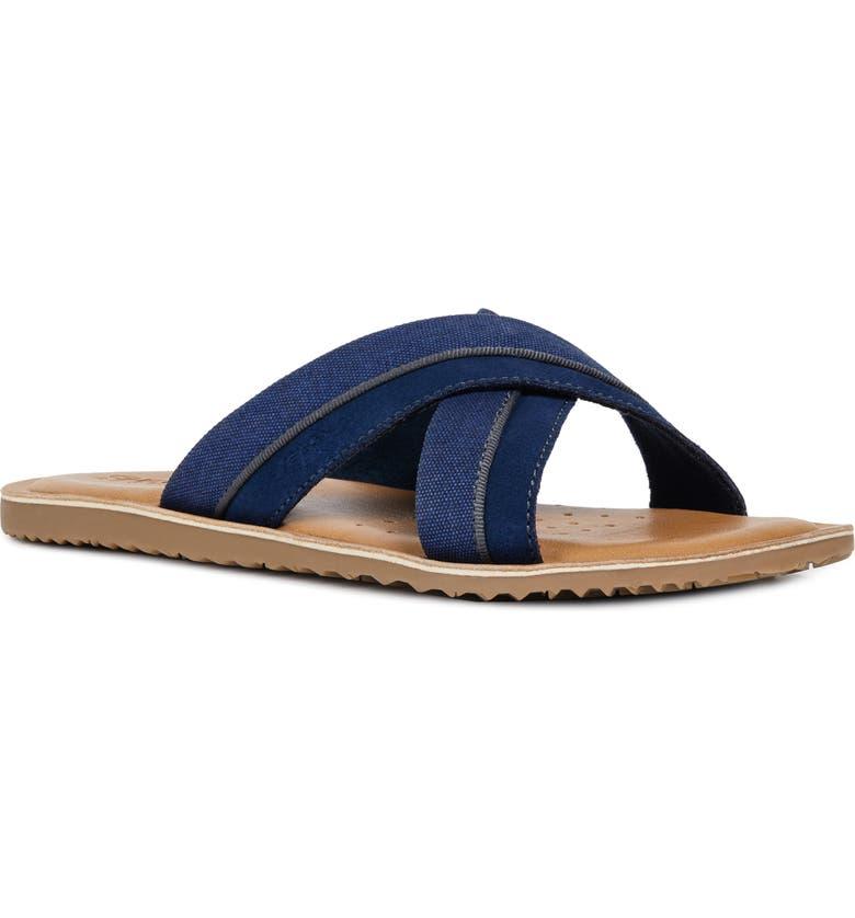 GEOX Artie 18 Slide Sandal, Main, color, DARK ROYAL BLEND