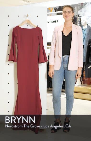 Iva Bell Sleeve Evening Dress, sales video thumbnail