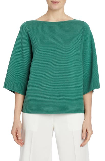 Lafayette 148 RIB BELL SLEEVE COTTON TOP