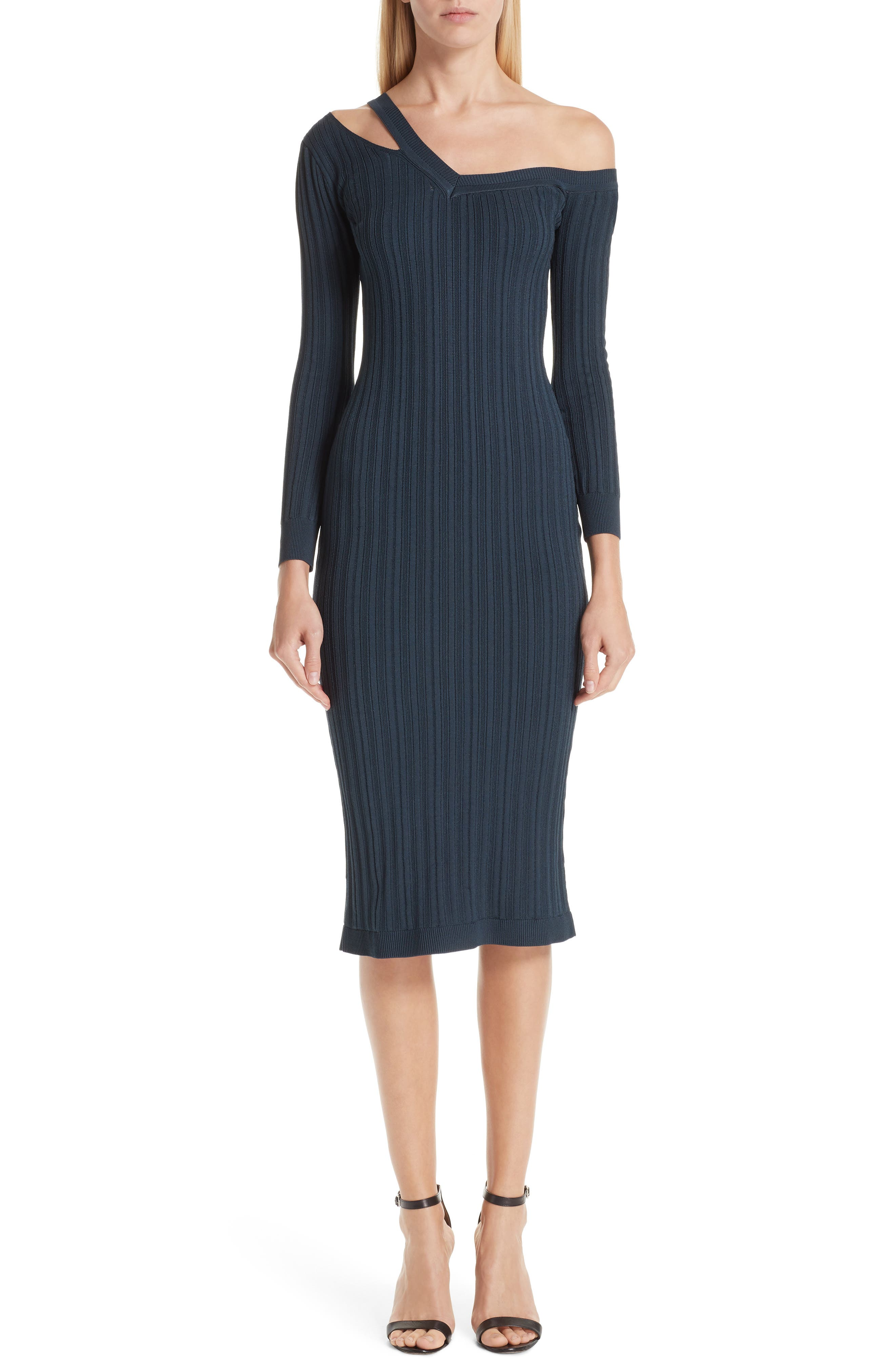 Cushnie Knit Cutout Off The Shoulder Dress