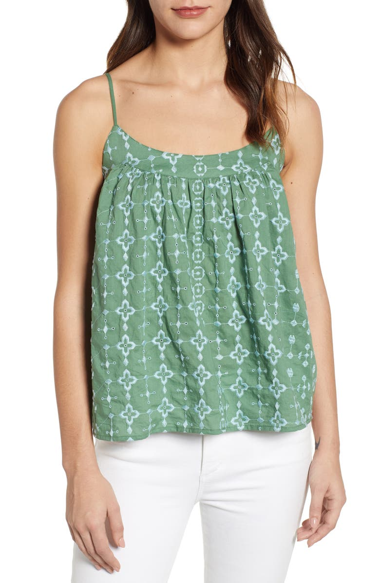 LUCKY BRAND Embroidered Swing Tank, Main, color, 343