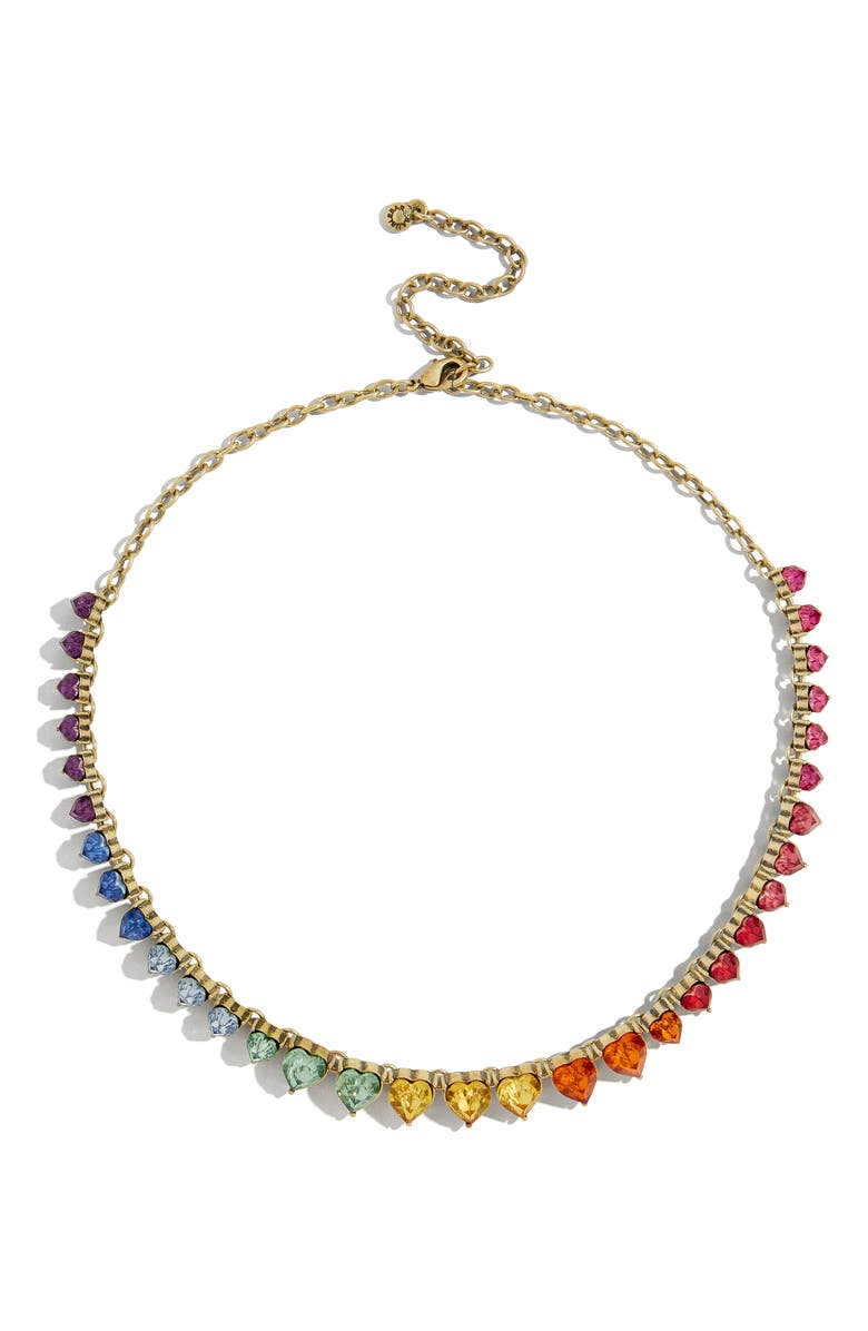 Francina Rainbow Heart Statement Necklace by Baublebar