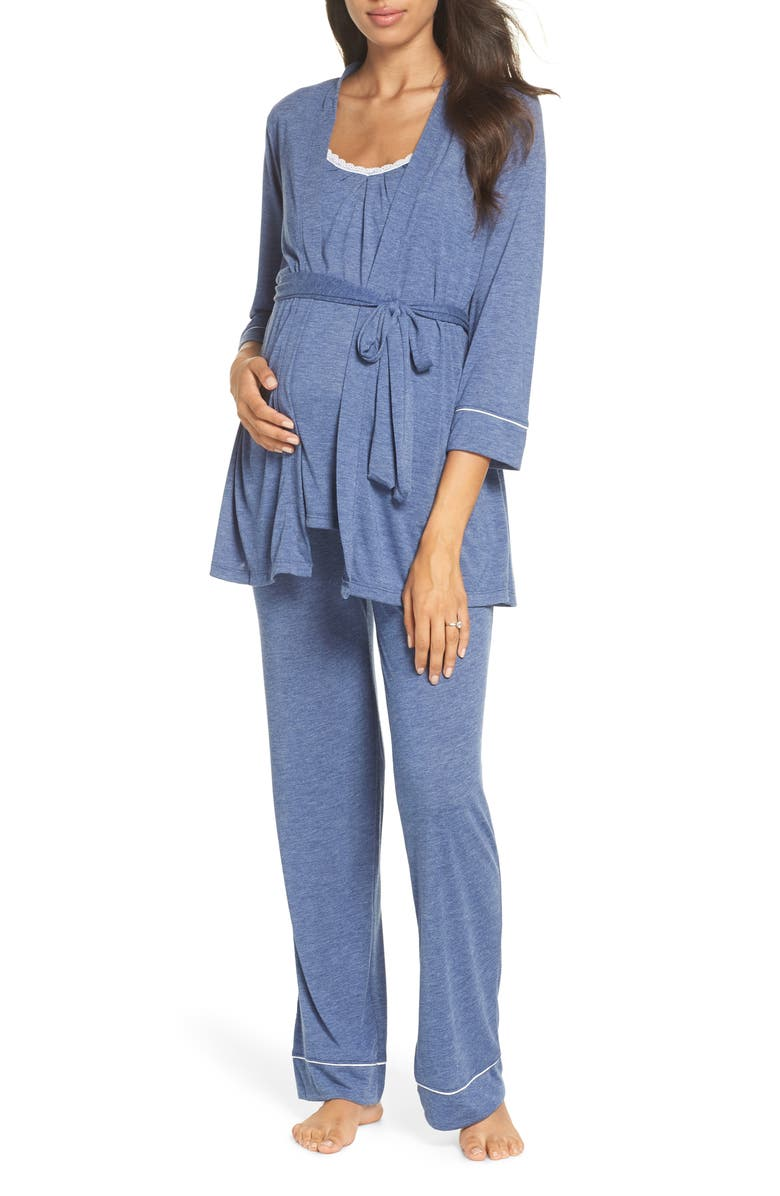 3d305cfe3 Maternity/Nursing Robe & Pajamas, Main, color, CHAMBRAY