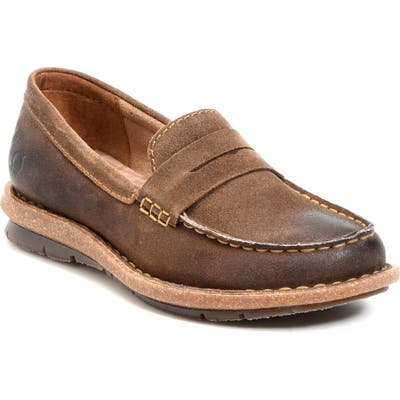B?rn Tok Water Resistant Penny Loafer, Brown