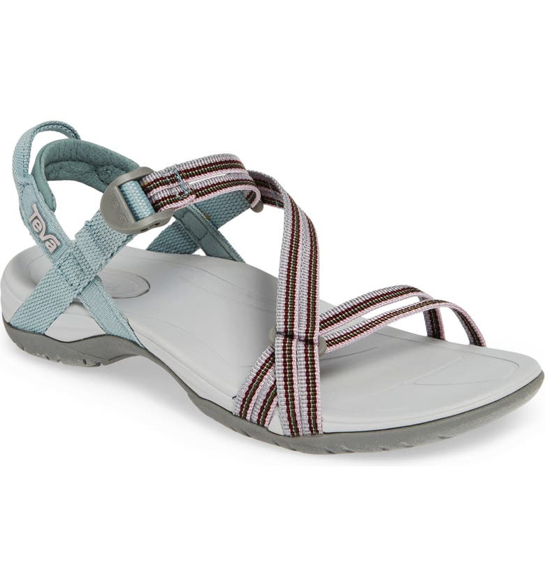 TEVA Sirra Sandal, Main, color, GREY MIST FABRIC