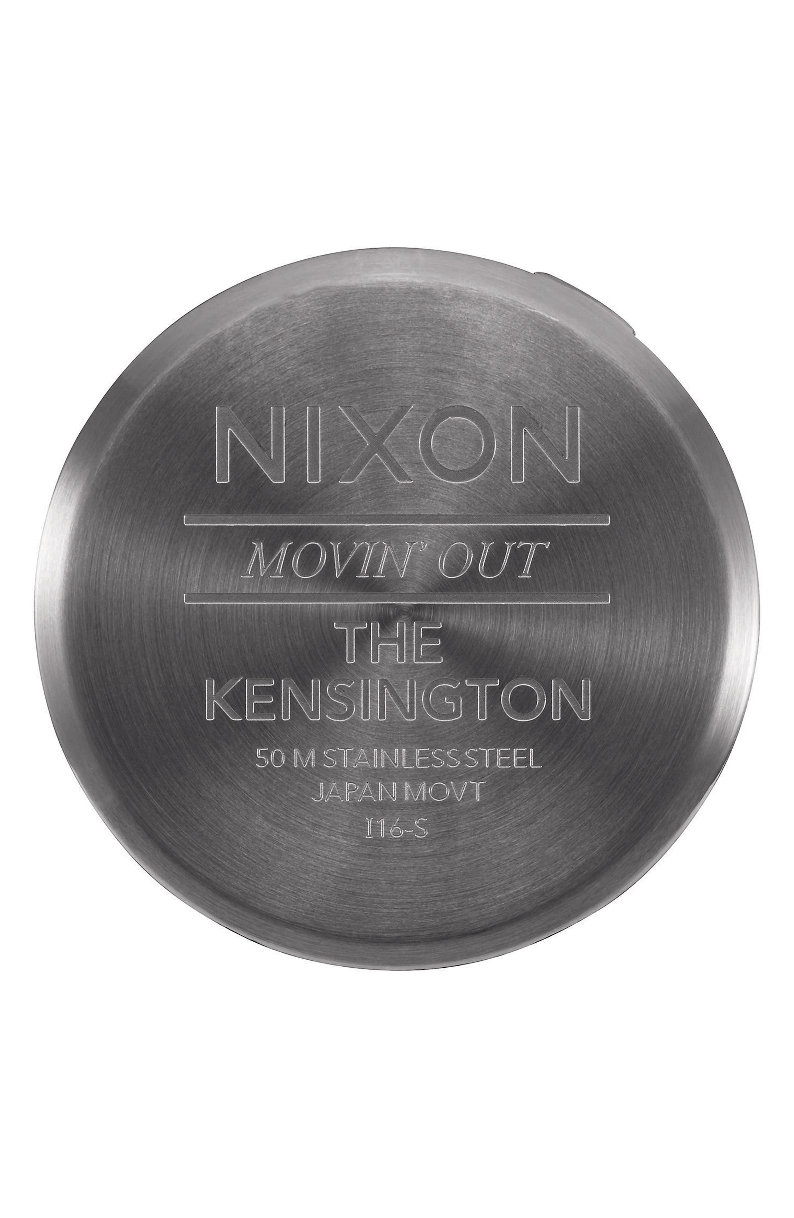 ,                             'The Kensington' Leather Strap Watch, 37mm,                             Alternate thumbnail 4, color,                             041