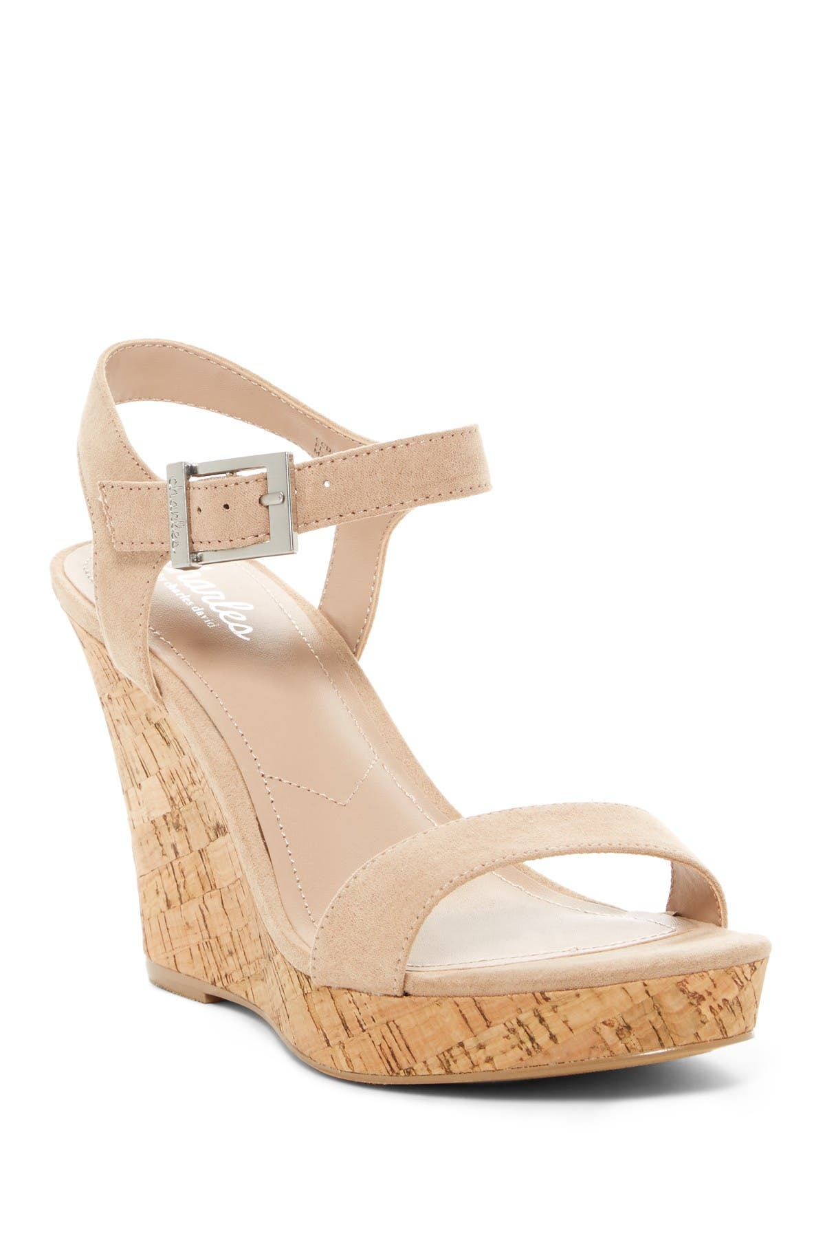 Image of Charles By Charles David Lindy Faux Suede Wedge Sandal