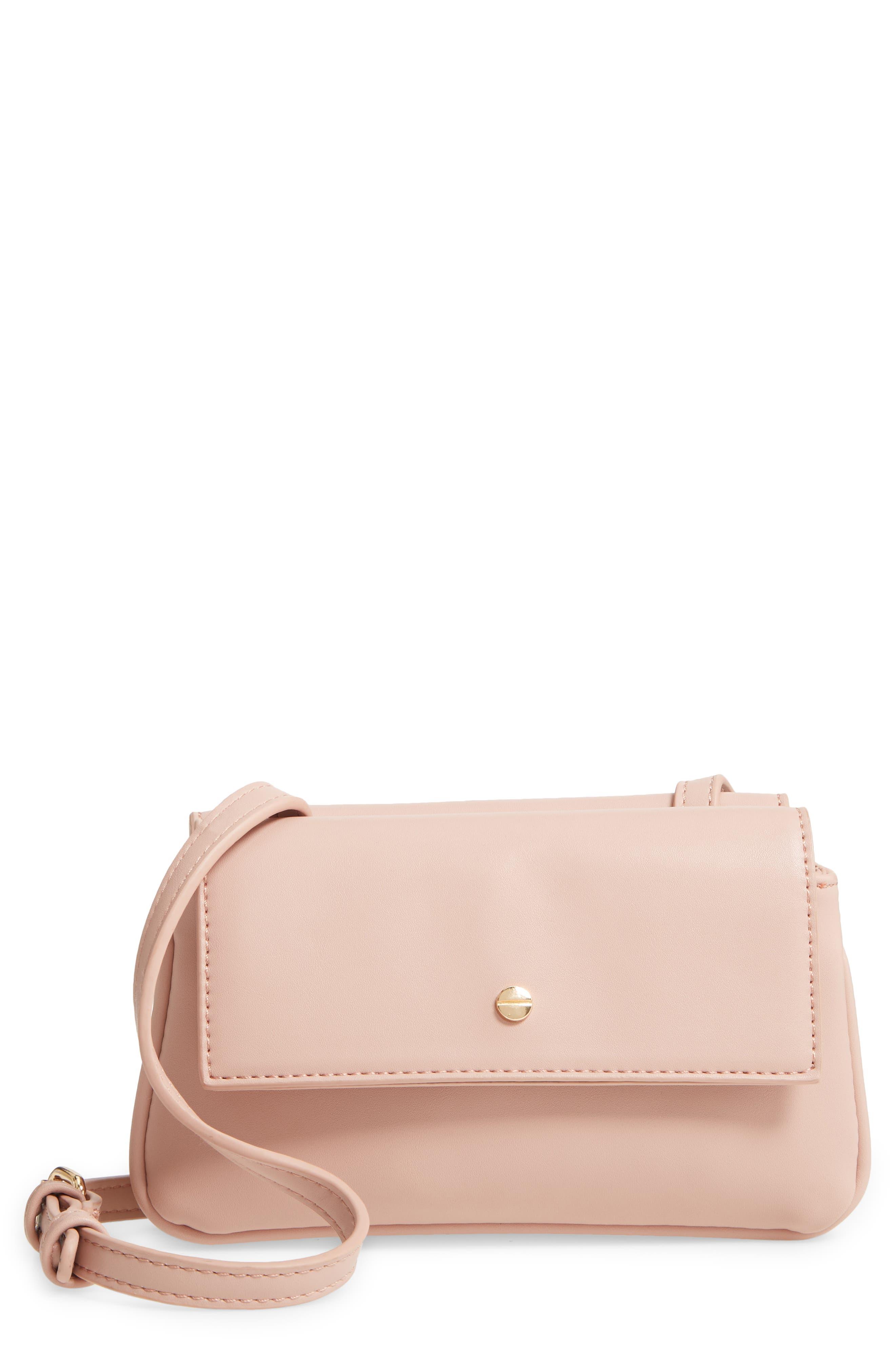 Mali + Lili Double Flap Vegan Leather Crossbody Bag