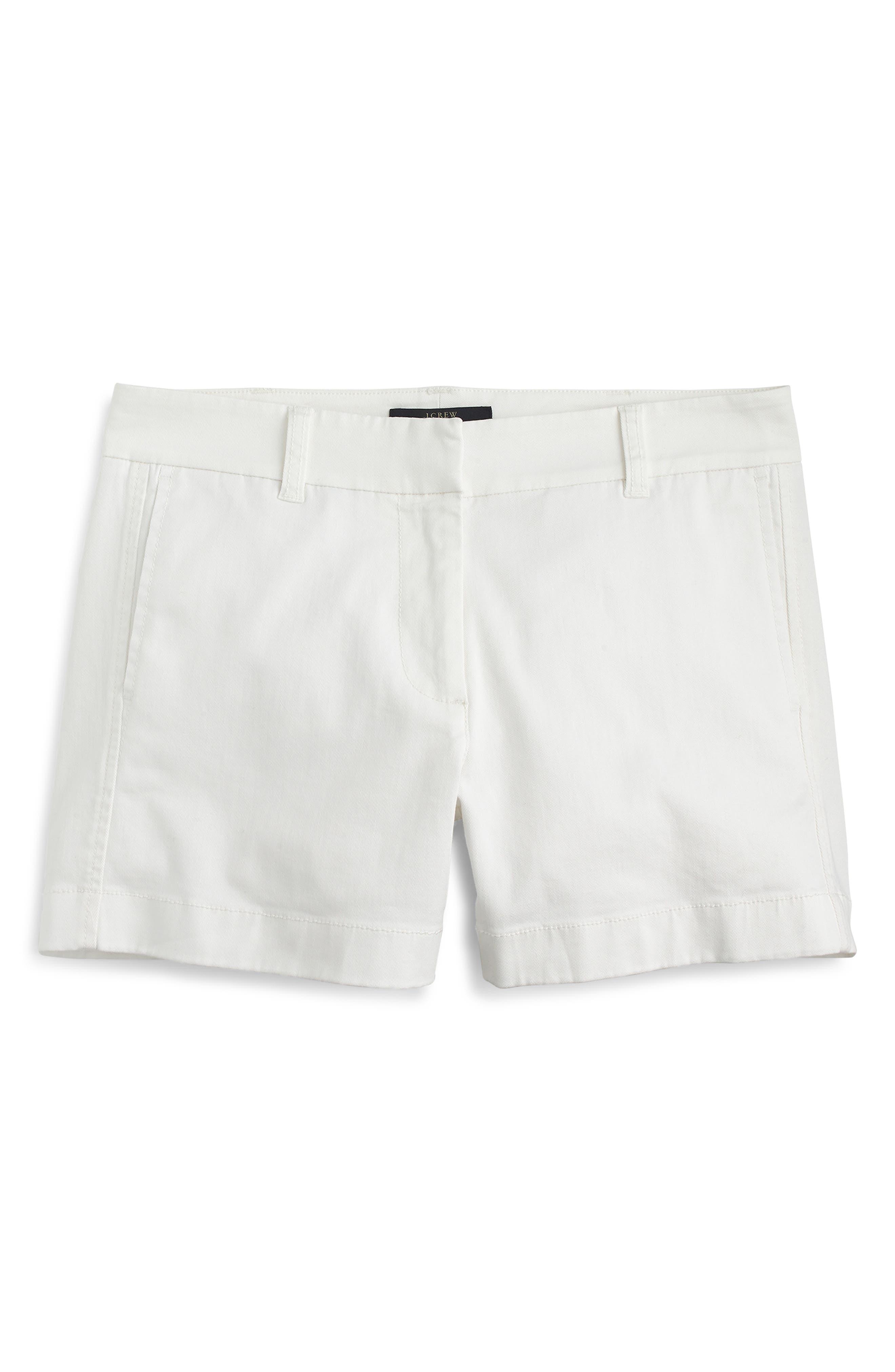Women's J.crew Stretch Classic Chino Shorts,  00 - White