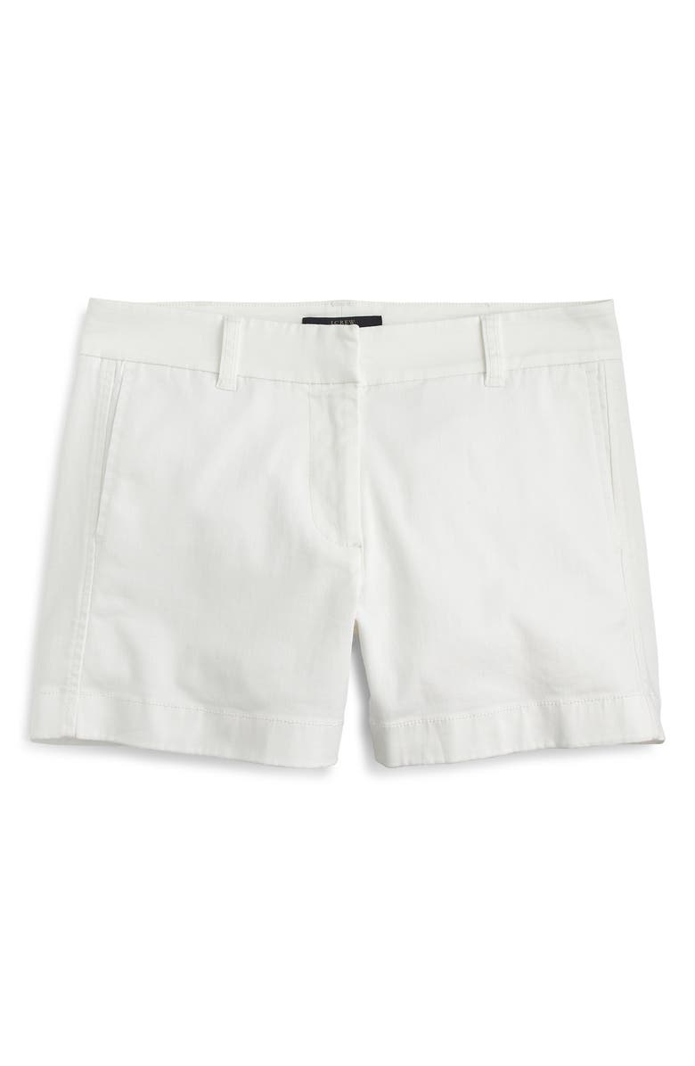 J.CREW Stretch Classic Chino Shorts, Main, color, WHITE