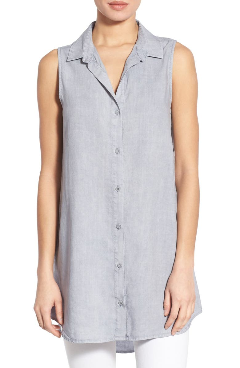 853d1e37939 Side Stitch Sleeveless Tunic Shirt | Nordstrom