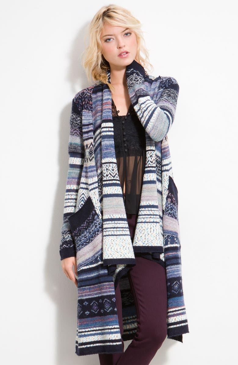 FREE PEOPLE 'Yesterday's Smile' Long Cardigan, Main, color, 400