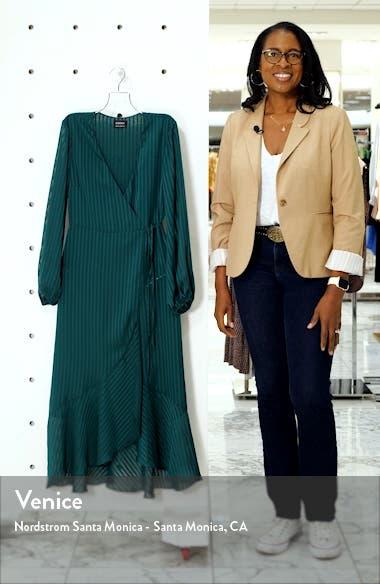Mirela Long Sleeve Midi Wrap Dress, sales video thumbnail
