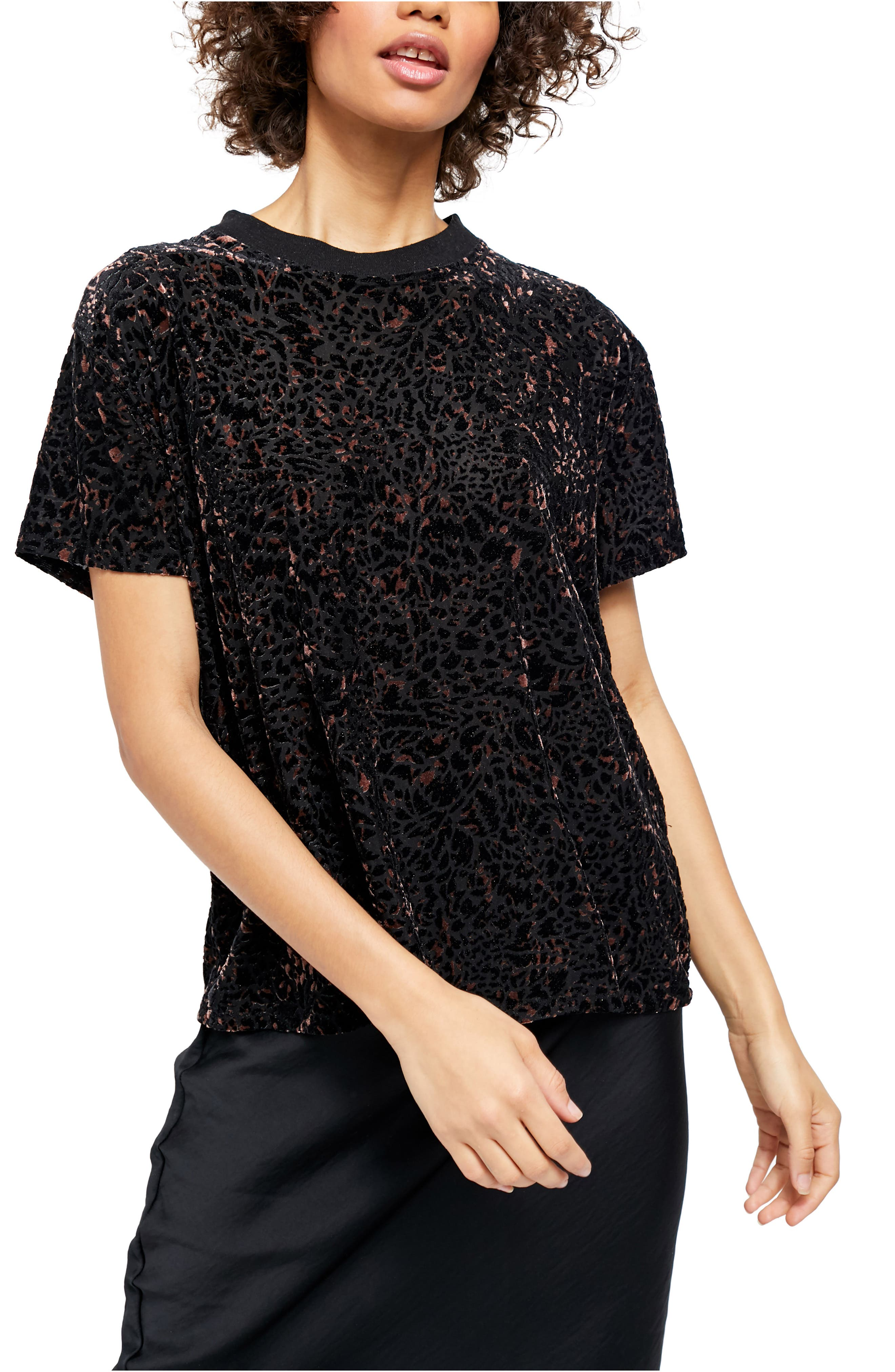 Image of Free People Teddy Burnout T-Shirt