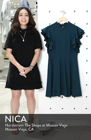 Crepe Fit & Flare Dress, sales video thumbnail