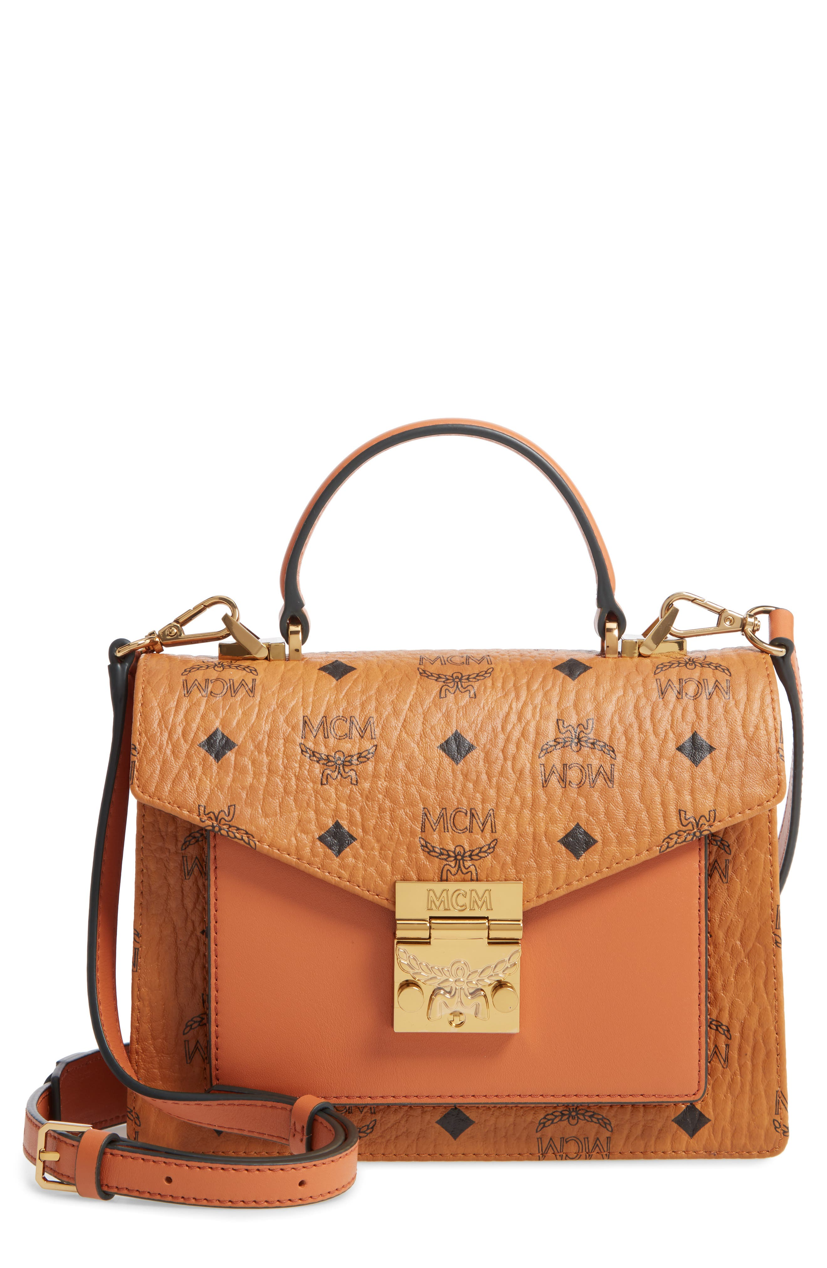 Mcm Coats Small Patricia Visetos Coated Canvas & Leather Satchel