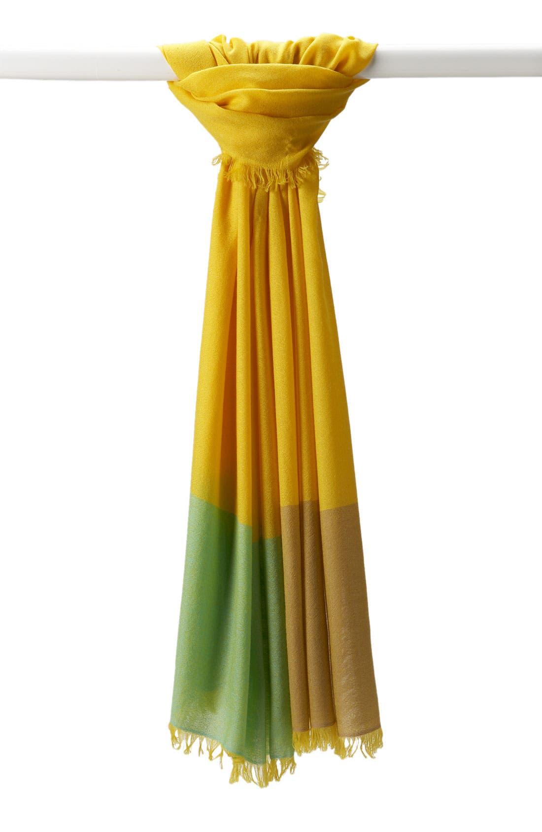 ,                             'Eyelash' Colorblock Cashmere Wrap,                             Main thumbnail 105, color,                             721