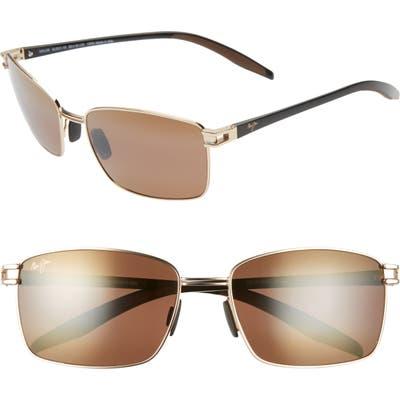 Maui Jim Cove Park 60mm Polarizedplus2 Sunglasses - Gold W/ Black Temples