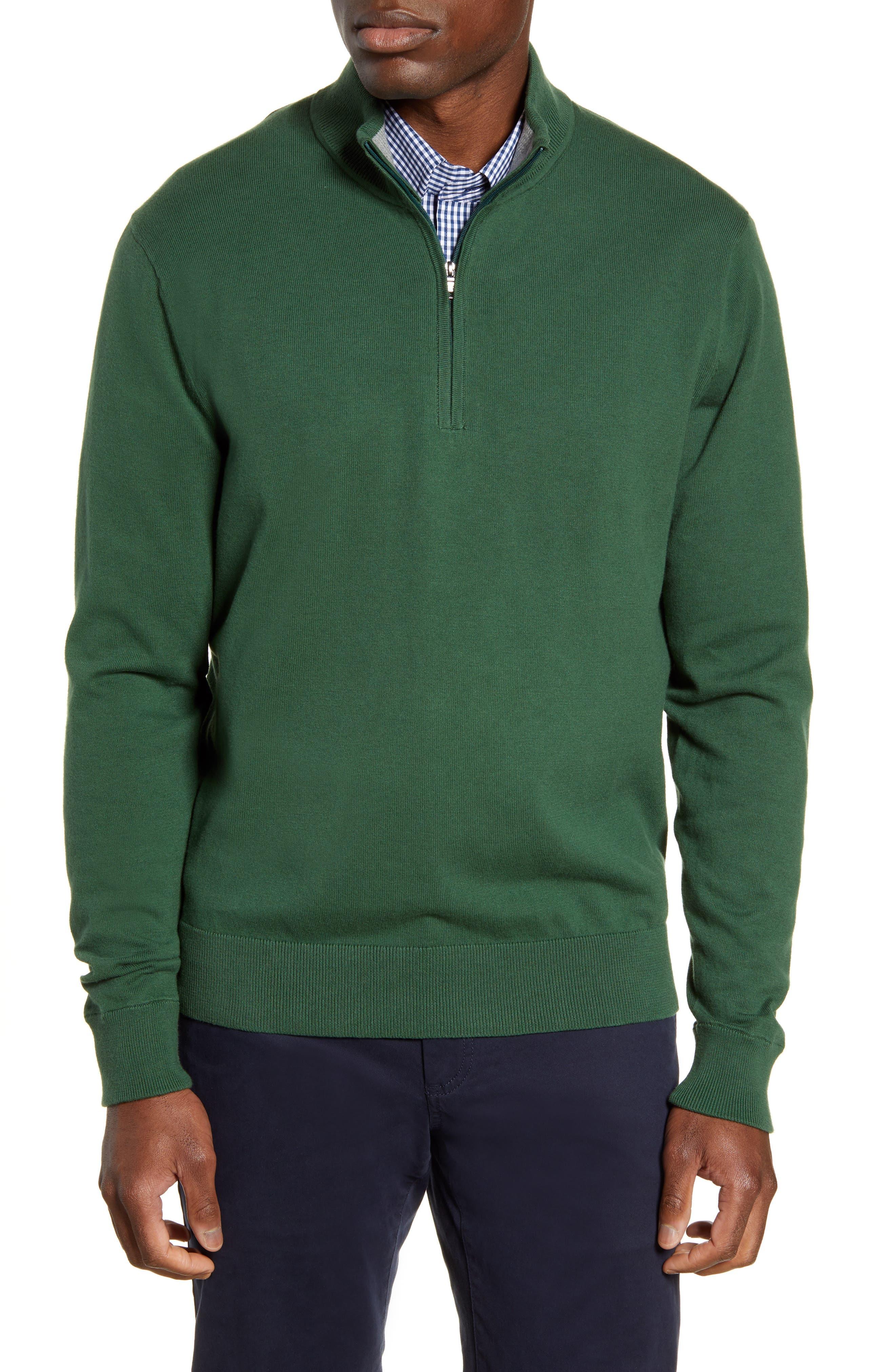 Cutter & Buck Lakemont Half Zip Sweater, Green