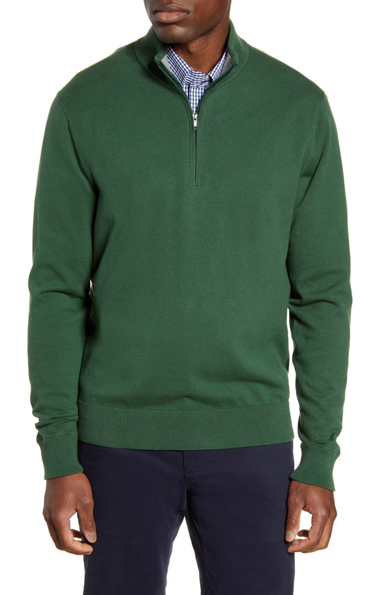 CUTTER & BUCK Lakemont Half Zip Sweater, Main, color, HUNTER