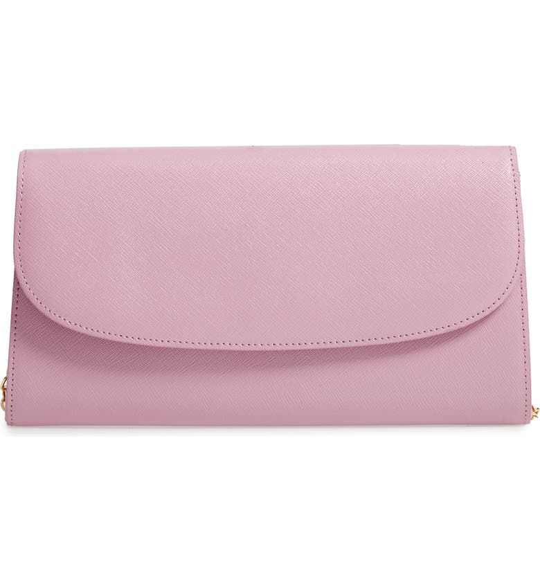 NORDSTROM Leather Clutch, Main, color, 530