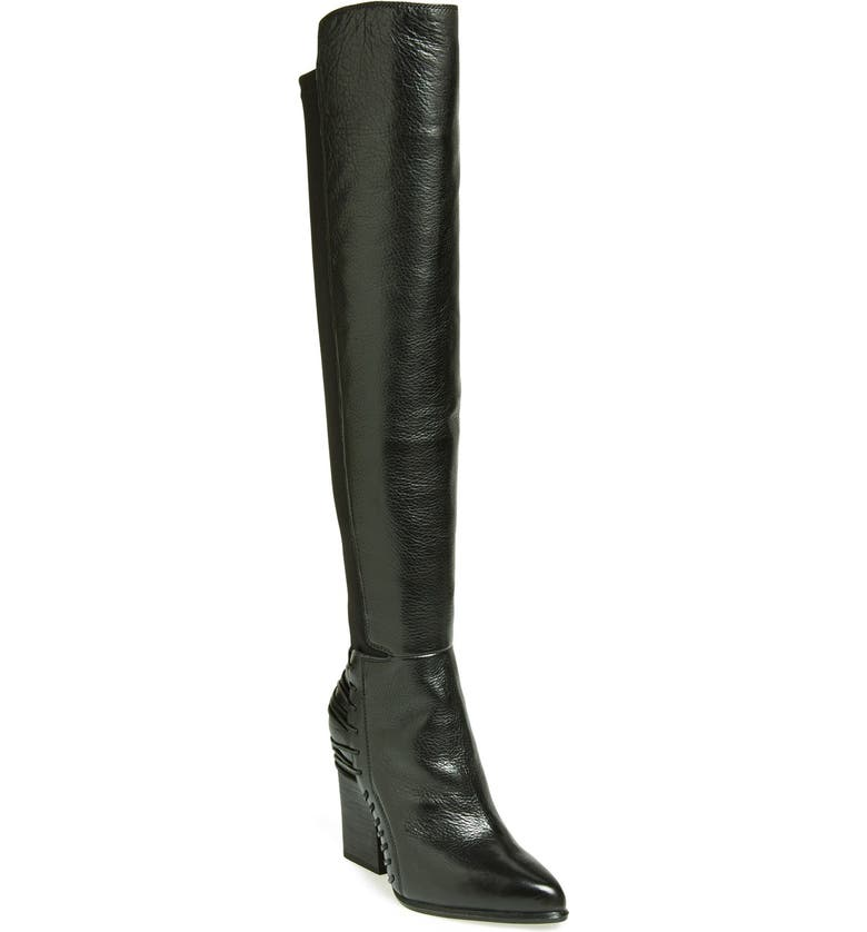 DOLCE VITA 'Nikka' Over the Knee Leather Boot, Main, color, 001