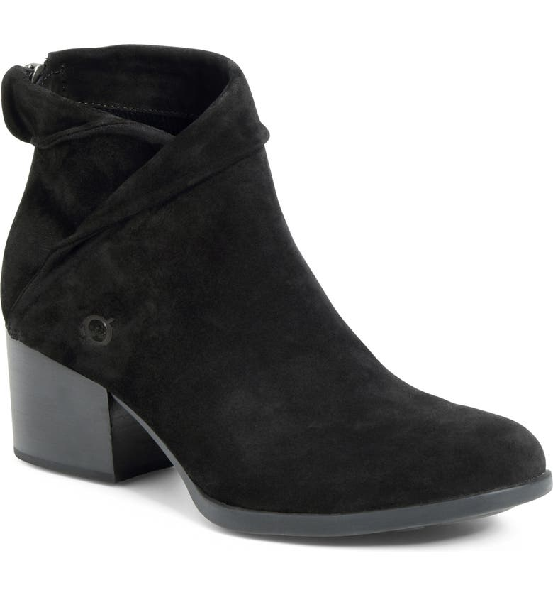 BØRN Abbe Fold Over Cuff Bootie, Main, color, BLACK SUEDE