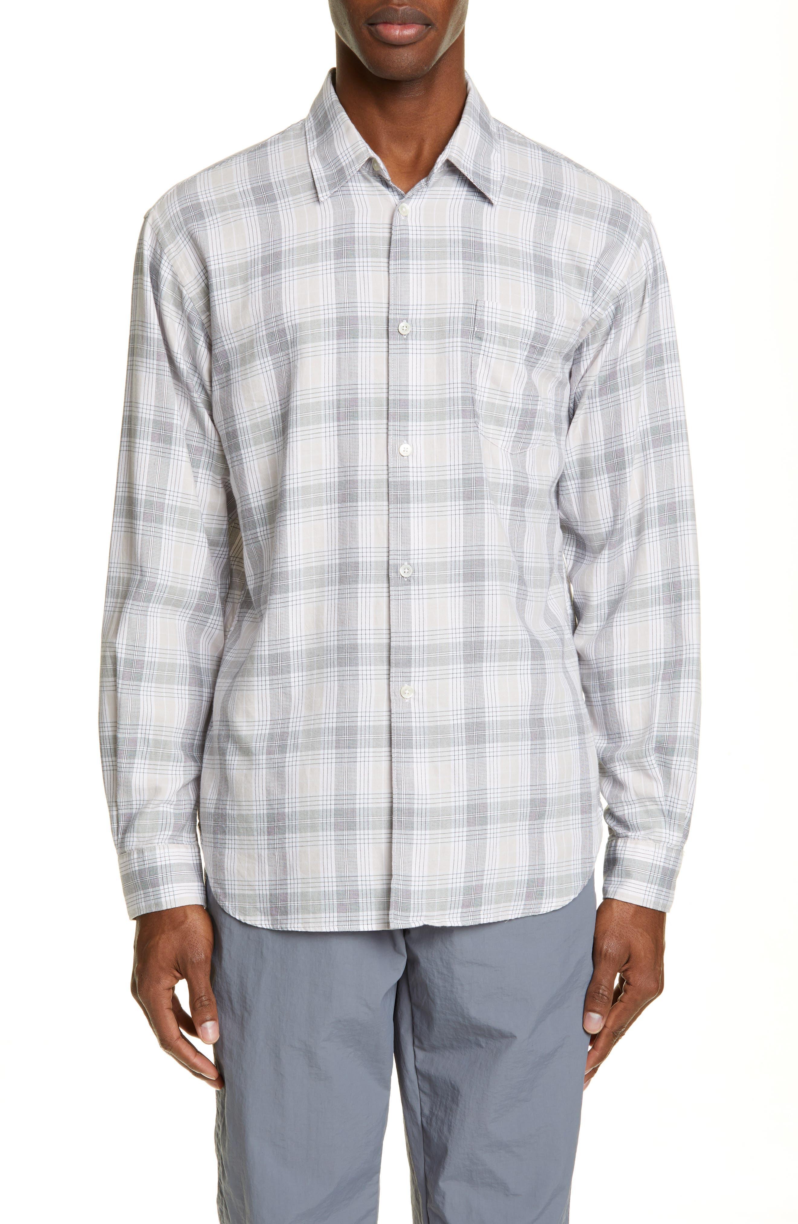 Tres Bien Lightweight Slim Fit Flannel Shirt, Pink