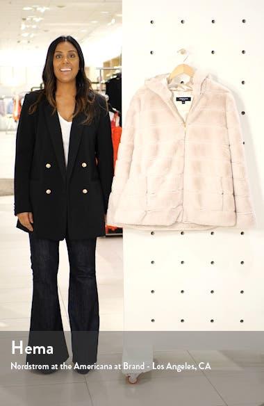 Hooded Faux Fur Jacket, sales video thumbnail