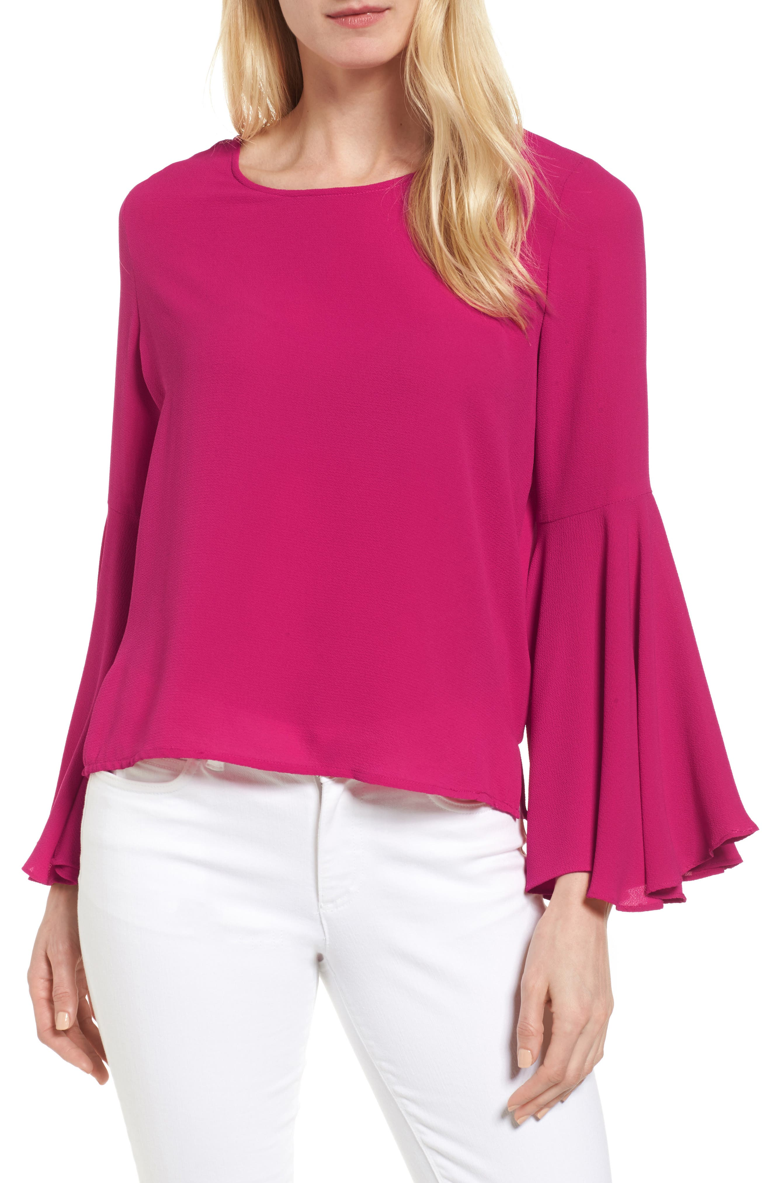 ,                             Bell Sleeve Blouse,                             Main thumbnail 1, color,                             646