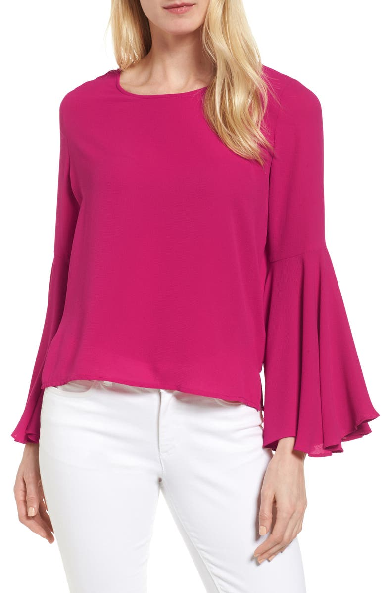 VINCE CAMUTO Bell Sleeve Blouse, Main, color, 646