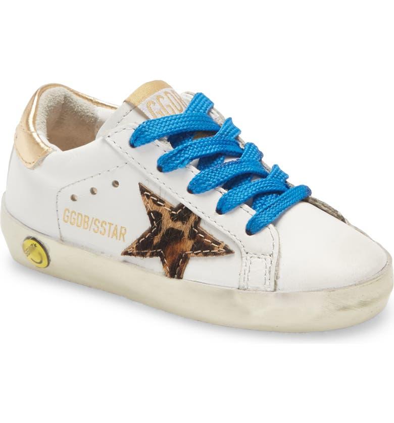 GOLDEN GOOSE Superstar Glitter Sneaker, Main, color, WHITE LEATHER/ PONY LEO STAR