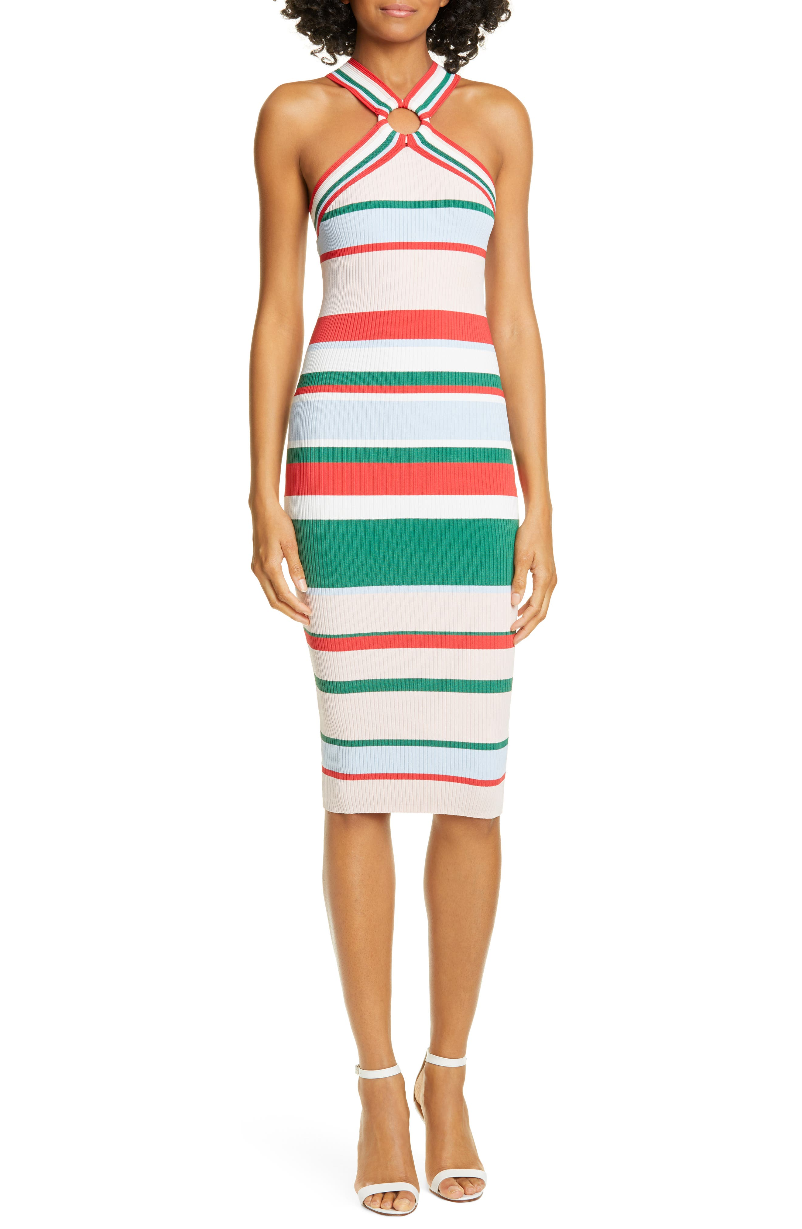 Ted Baker London Iyndiaa Tutti Frutti Body-Con Sweater Dress, White