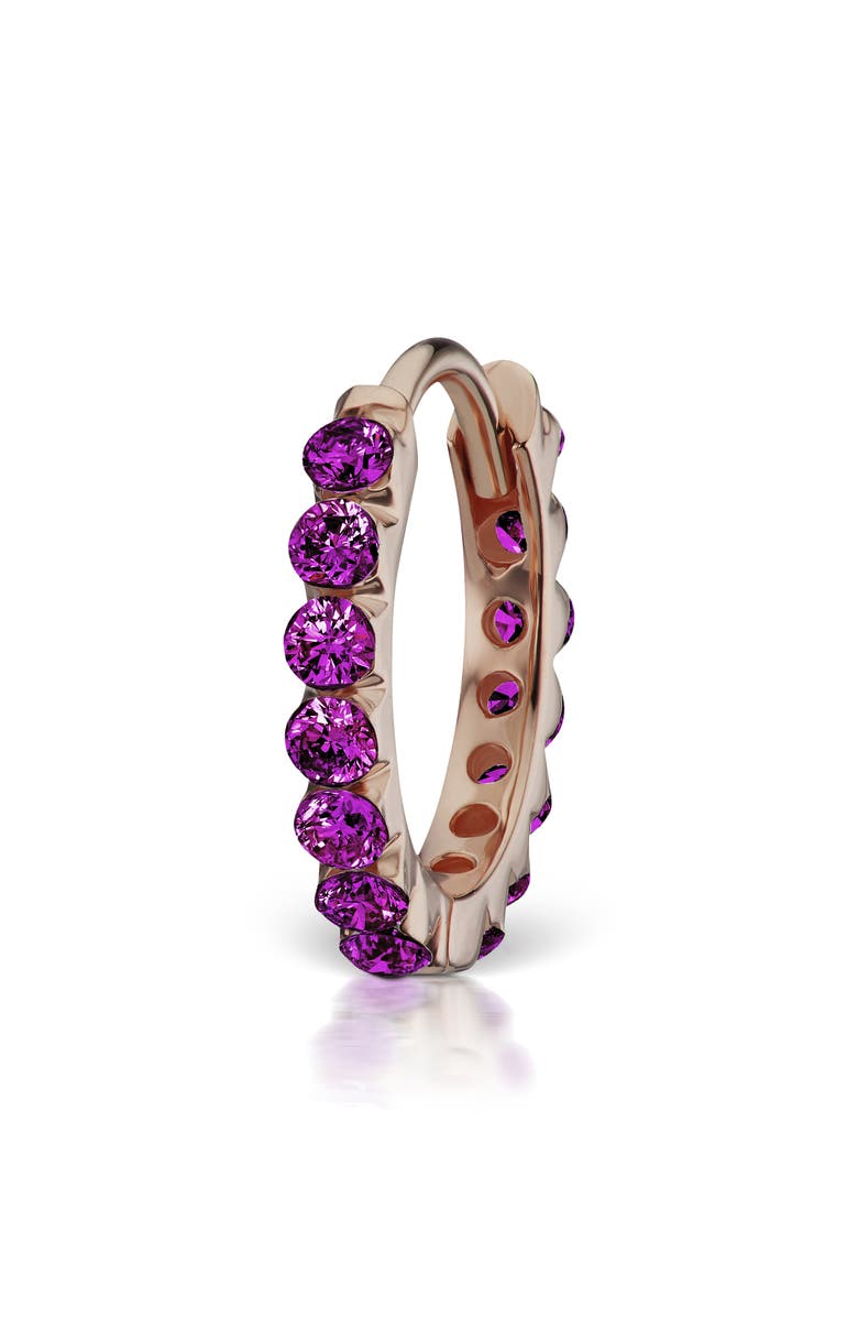 MARIA TASH Invisible Set Purple Diamond Eternity Earring, Main, color, 712