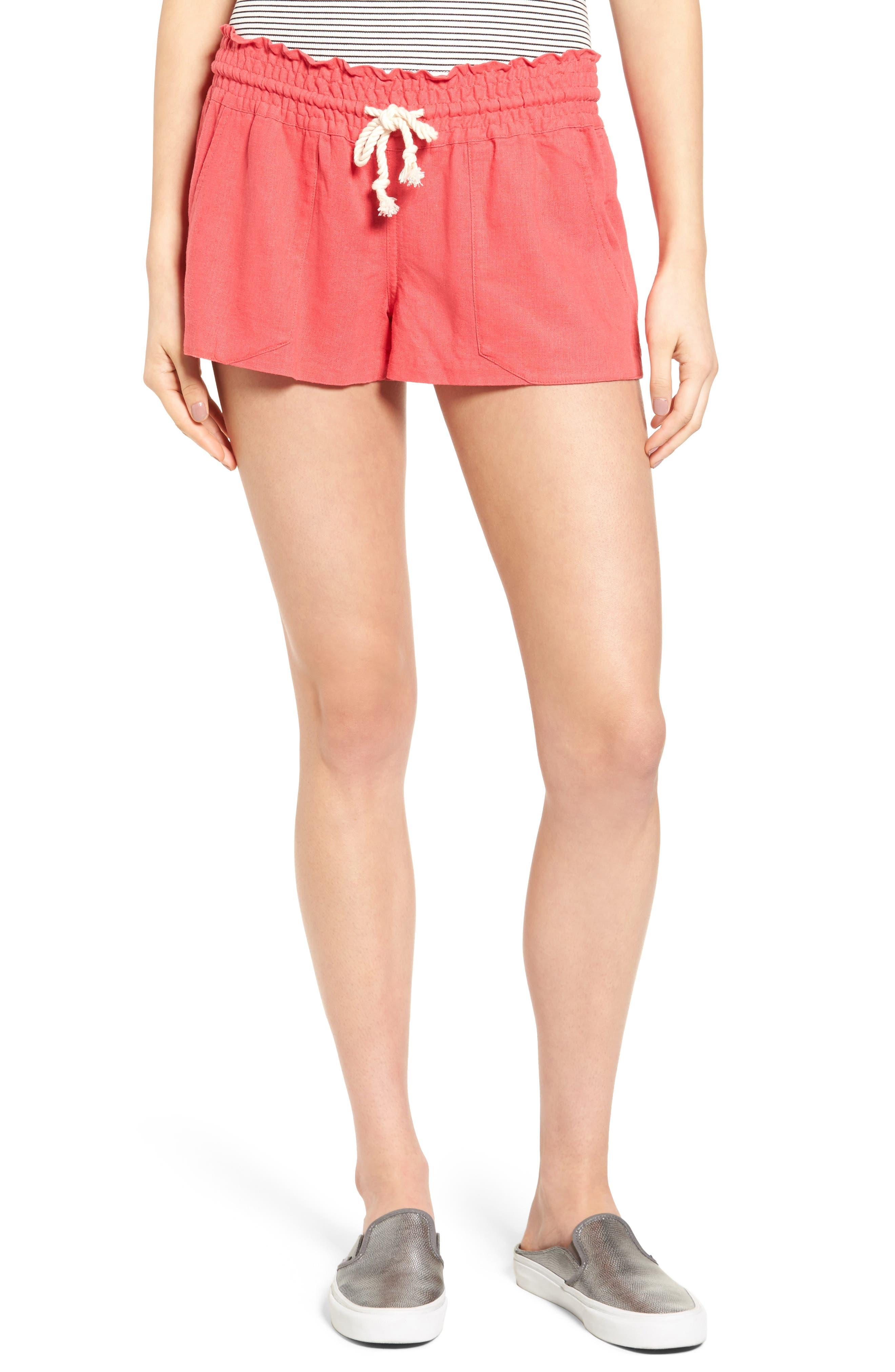 ,                             'Oceanside' Linen Blend Shorts,                             Main thumbnail 36, color,                             600